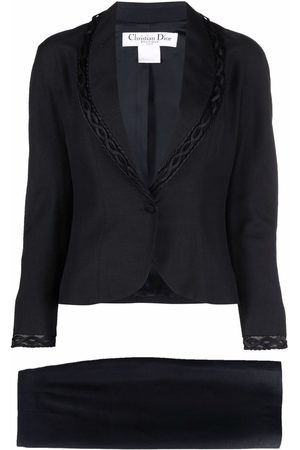 Dior 1990s pre-owned single-breasted skirt suit
