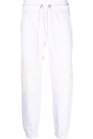GCDS White panelled joggers