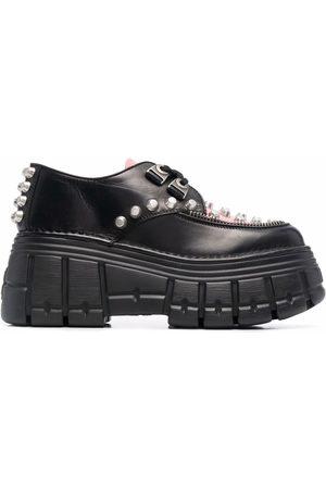 Miu Miu Stud-detail platform lace-up shoes