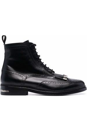 TOGA VIRILIS Muži Šněrovací - Silver-detail lace up boots