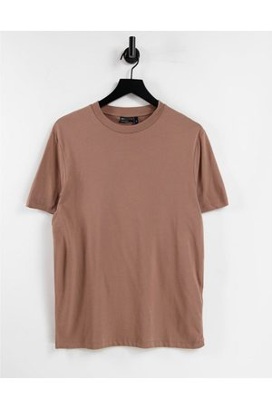 ASOS DESIGN Organic t-shirt with crew neck in brown