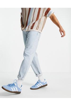 Topman Relaxed jeans in bleach-Blue