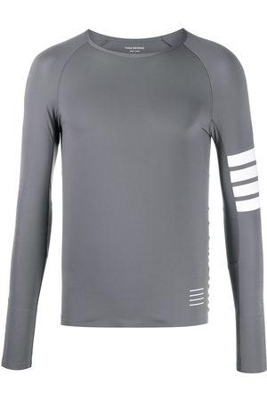 Thom Browne Muži Topy - 4-Bar stripe lightweight compress top