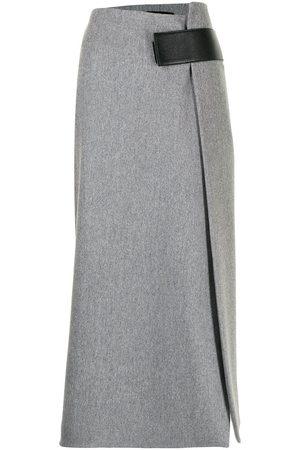 Proenza Schouler Ženy Midi - Melange wool midi wrap skirt