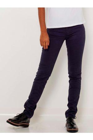 Camaïeu Tmavě fialové slim fit kalhoty