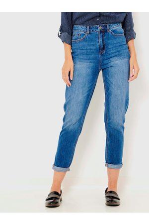 Camaïeu Modré zkrácené mom džíny