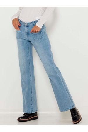 Camaïeu Světle modré flared fit džíny