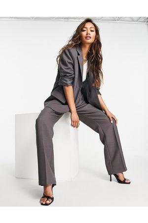 ASOS DESIGN Ženy Saka - Masculine suit blazer in charcoal-Grey