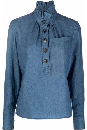 Tory Burch Ženy Ke krku - Frilled high-neck shirt