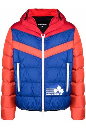 Dsquared2 Muži Péřové bundy - Logo-print puffer jacket