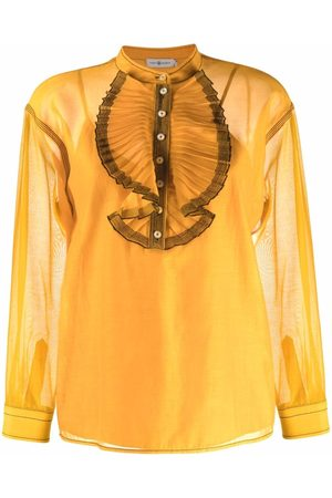 Tory Burch Pleat-detail long-sleeved shirt