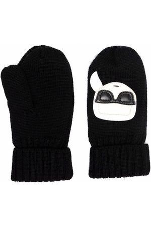 Karl Lagerfeld K/Ikonik wool mittens
