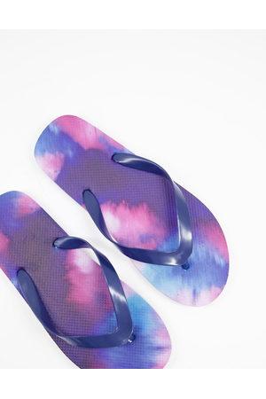 ASOS DESIGN Flip flop in tie dye-Multi