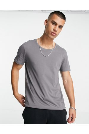 ASOS Organic t-shirt with scoop neck in washed black