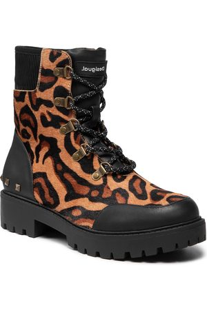 Desigual Shoes Biker Leopard 21WSTL02