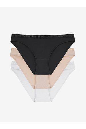 Dorina Sada tří kalhotek v černé, bílé a béžové barvě Zanna-3pp
