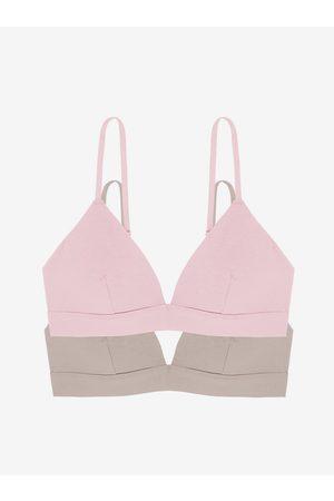 Dorina Sada dvou podprsenek v růžové a béžové barvě Lila-2pp