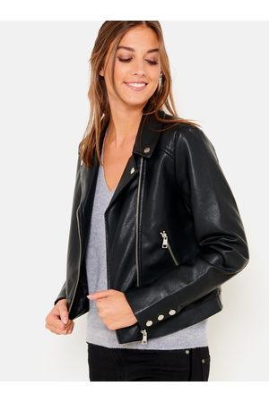 CAMAIEU Černá koženková bunda