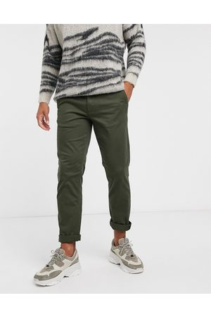 Selected Straight fit chino in khaki-Green