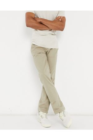 Selected Straight fit chino in stone