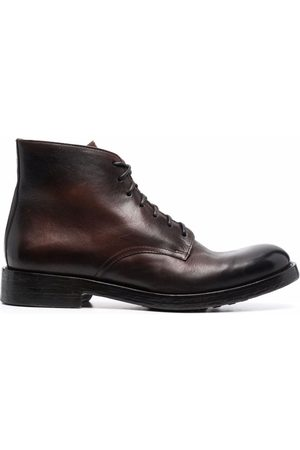 Doucal's Almond-toe lace-up ankle boots