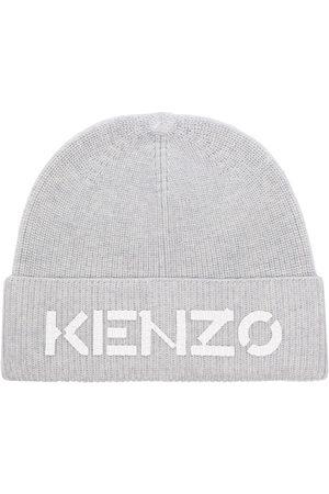 Kenzo LOGO WOOL BEANIE HAT GREY