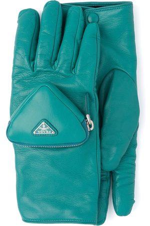 Prada Ženy Rukavice - Zipped pouch short gloves