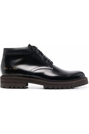 COMMON PROJECTS Polished-finish lace-up sneakers