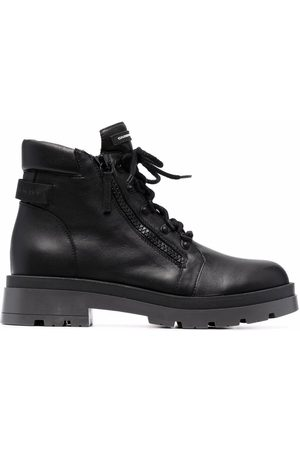 Giuseppe Zanotti Logo-patch ace-up boots