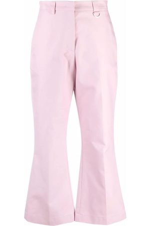 MSGM Pressed-crease cotton tailored trousers
