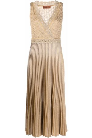 Missoni Ženy Pletené - Pleated-skirt knitted dress