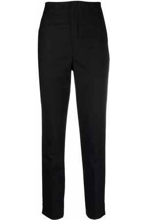TWINSET High-waisted slim-cut trousers