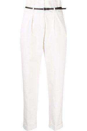 Peserico Ženy Společenské - High-waisted belted tailored trousers