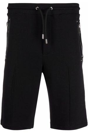 Les Hommes Knee-length cotton jersey shorts