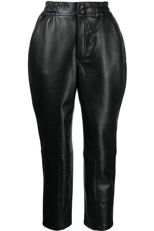 Rodebjer Cropped recycled leather trousers