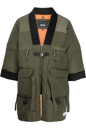 Mostly Heard Rarely Seen Colour-block panelled padded coat