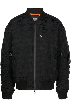 Mostly Heard Rarely Seen Embossed-camouflage bomber jacket