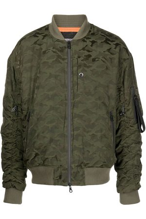 Mostly Heard Rarely Seen Camouflage-print bomber jacket