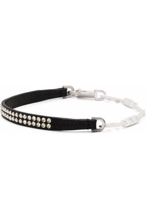 Rick Owens Muži Náhrdelníky - Crystal-embellished chain-link necklace