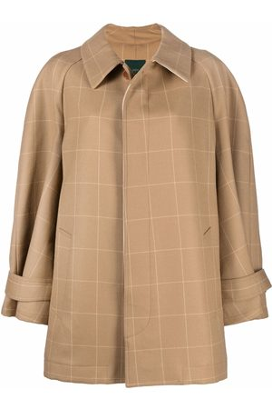 JEJIA Checked cape style coat