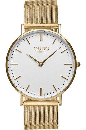 Qudo Dámský set v bílo-zlaté barvě hodinky + náramek Eterni
