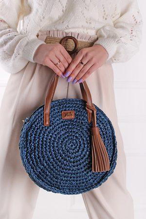 XTI Tmavě modrá kulatá kabelka 86495