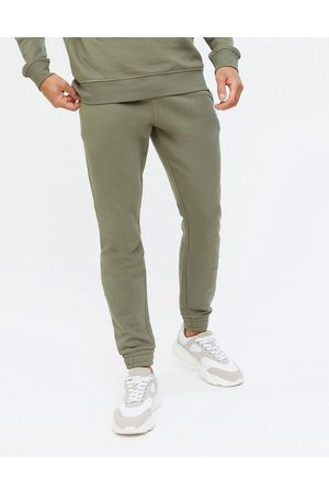 New Look Co-ord joggers in khaki-Green