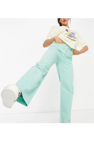 COLLUSION X014 90s baggy extreme dad jeans in mint-Green