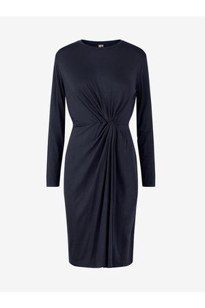 Pieces Tmavě modré pouzdrové šaty Neora