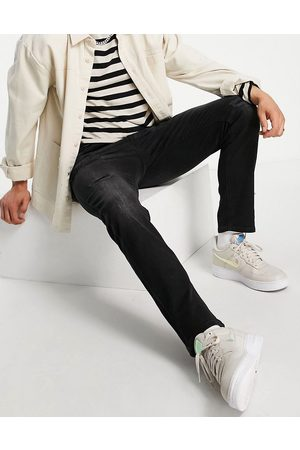 JACK & JONES Muži Slim - Intelligence Tim slim straight leg jeans with abrasions in black