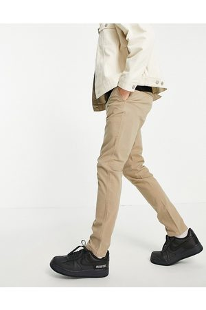 SELECTED Muži Chino - Skinny fit stretch chinos in sand-Neutral