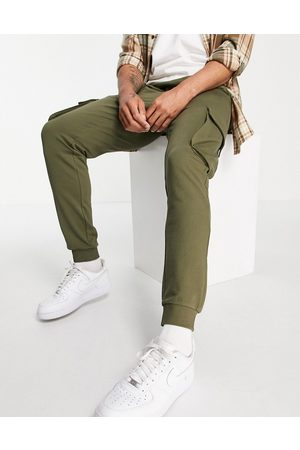 Only & Sons Muži Tepláky - Cargo joggers in khaki-Green