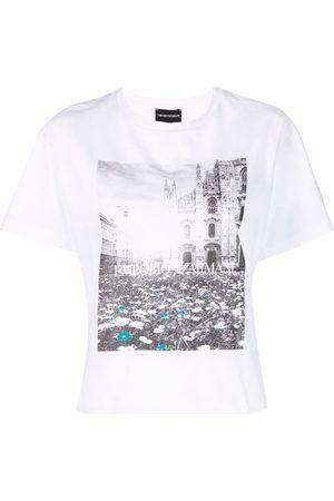 Emporio Armani Ženy S krátkým rukávem - Graphic-print short-sleeved T-shirt