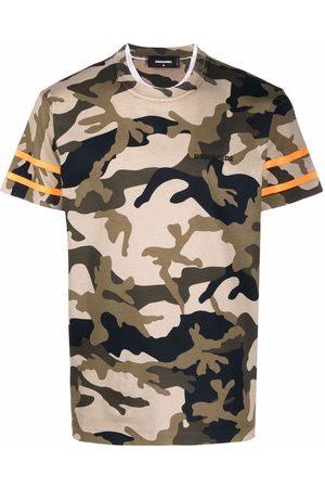 Dsquared2 Muži S krátkým rukávem - Camouflage-print cotton T-shirt